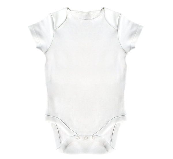Body simplu bebe, 98cm, LWS, bumbac organic, alb