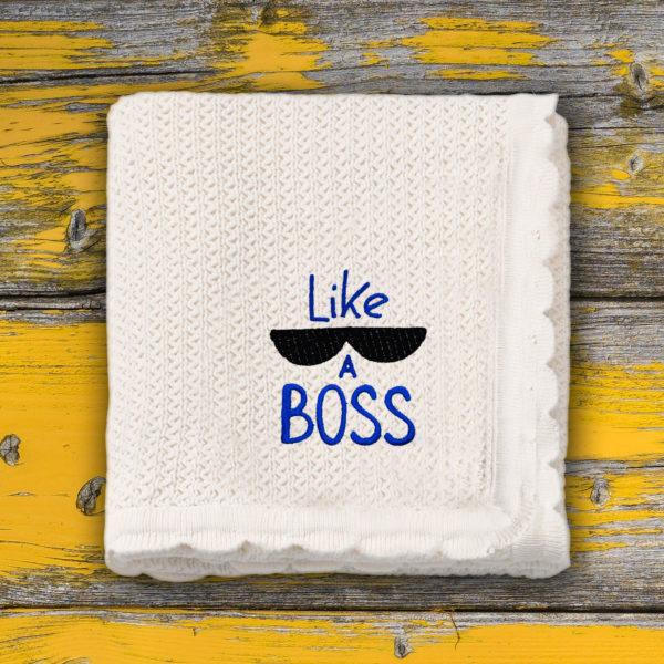 Like a Boss – paturica bebe brodata lws 661