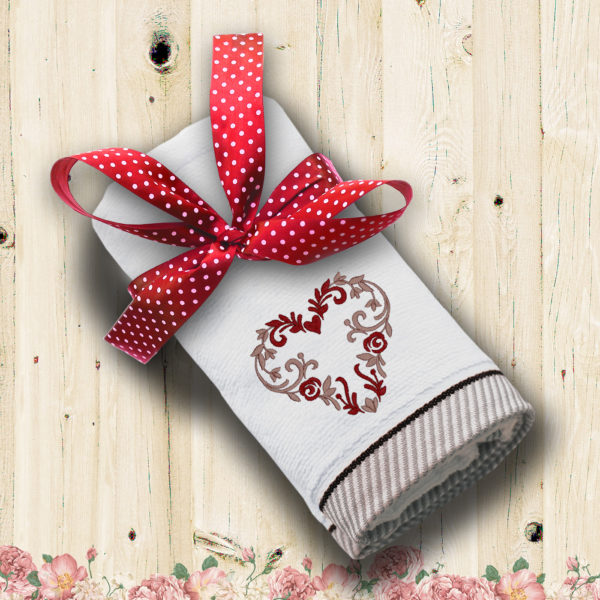 Inima flori Valentine's – prosop brodat lws 1557